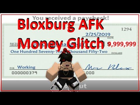 Bloxburg AFK Money Glitch - YouTube | How to get money ...