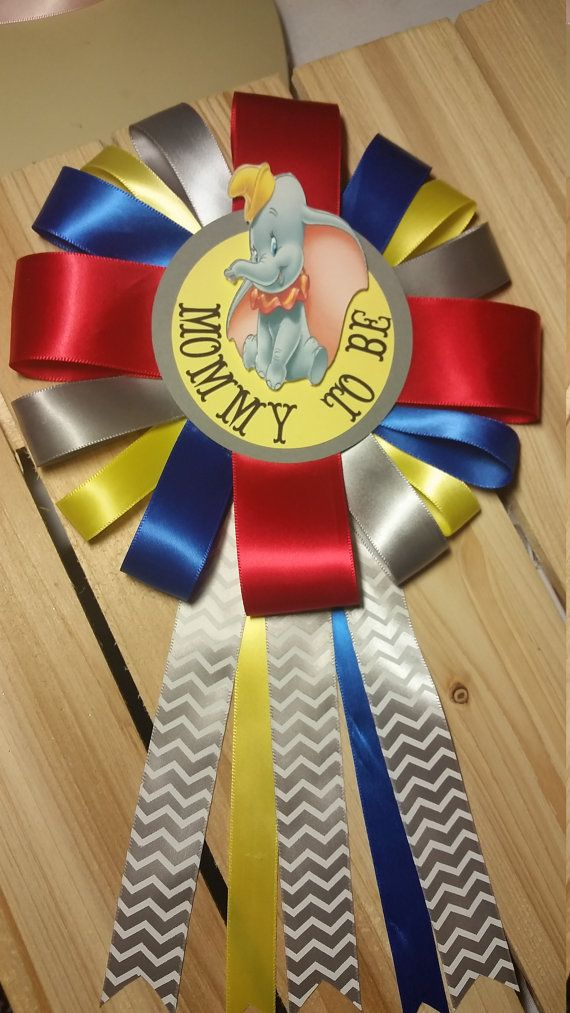 Mommy to be corsage dumbo baby shower by SilviasPartyDecor on Etsy