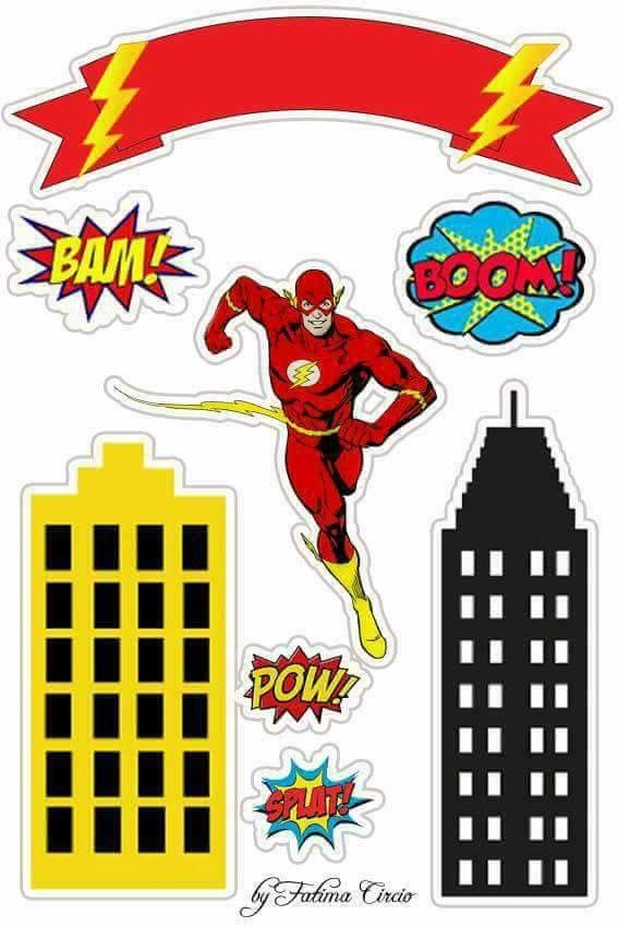 Super Heroes Mesa Dulces Bolo Flash Festa Do Flash Festa De