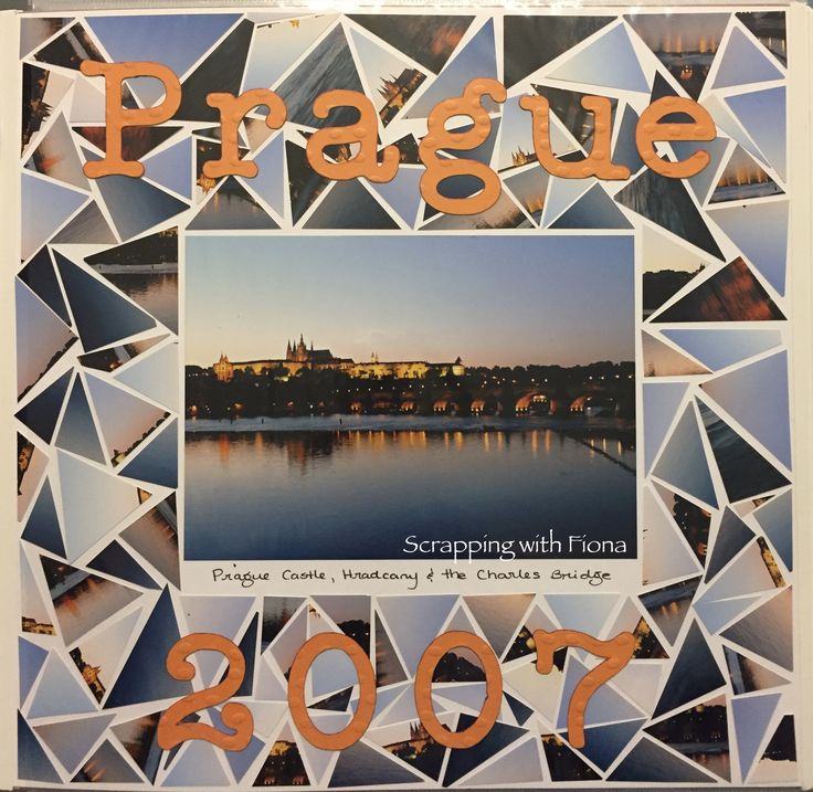 Triangle mosaic title page.  Because everyone loves a good mosaic every now and then! #scrapbooking #scrapbookinglayout  #scrapbookingideas