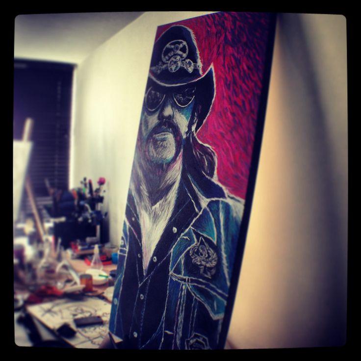 Lemmy, my anti role model - 120x50 cm - acrylic & oil