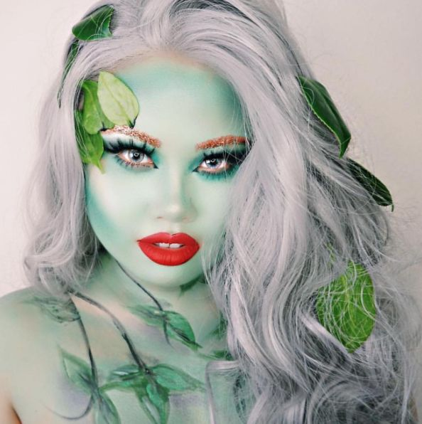 filled with poison but blessed with beauty rage kimthainguyen in immortal liquid lipstick halloween lookshalloween makeupivy - Best Halloween Makeup To Use