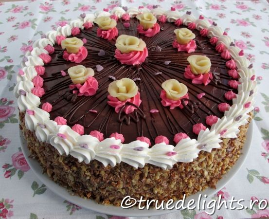 Nuts and chocolate cake