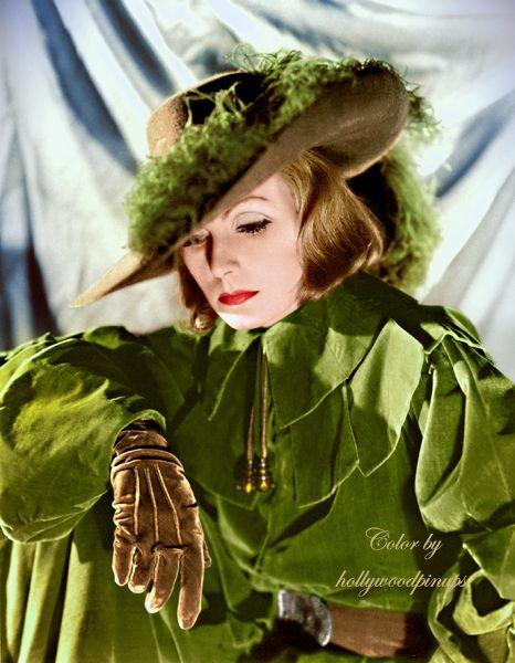Greta Garbo as the great Swedish monarch QUEEN CHRISTINA (1933). Color by #hollywoodpinups #GretaGarbo #silverscreen #oldhollywood #classichollywood #hollywoodglamour #colorized #photorestoration #vintagecolor #GoldenAgeOfHollywood #queen