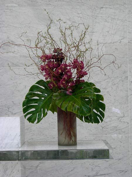 modern lobby floral | lobby flowers vs. deli flowers