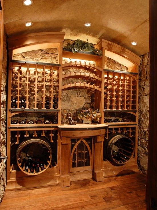 View this Great Mediterranean Wine Cellar with Hardwood floors u0026 High ceiling by CD Construction. Discover u0026 browse thousands of other home design ideas on ... & 90 best Wine cellars images on Pinterest | Wine cellars Cellar ...