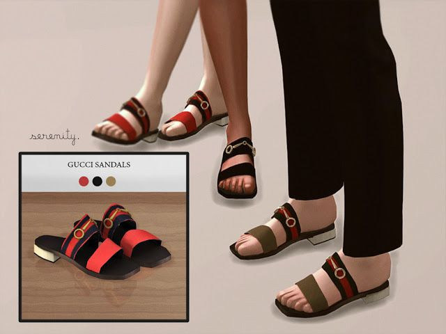 3 swatches Found in TSR Category 'Sims 4 Shoes Female' Source: serenity-cc's  Red Sandals