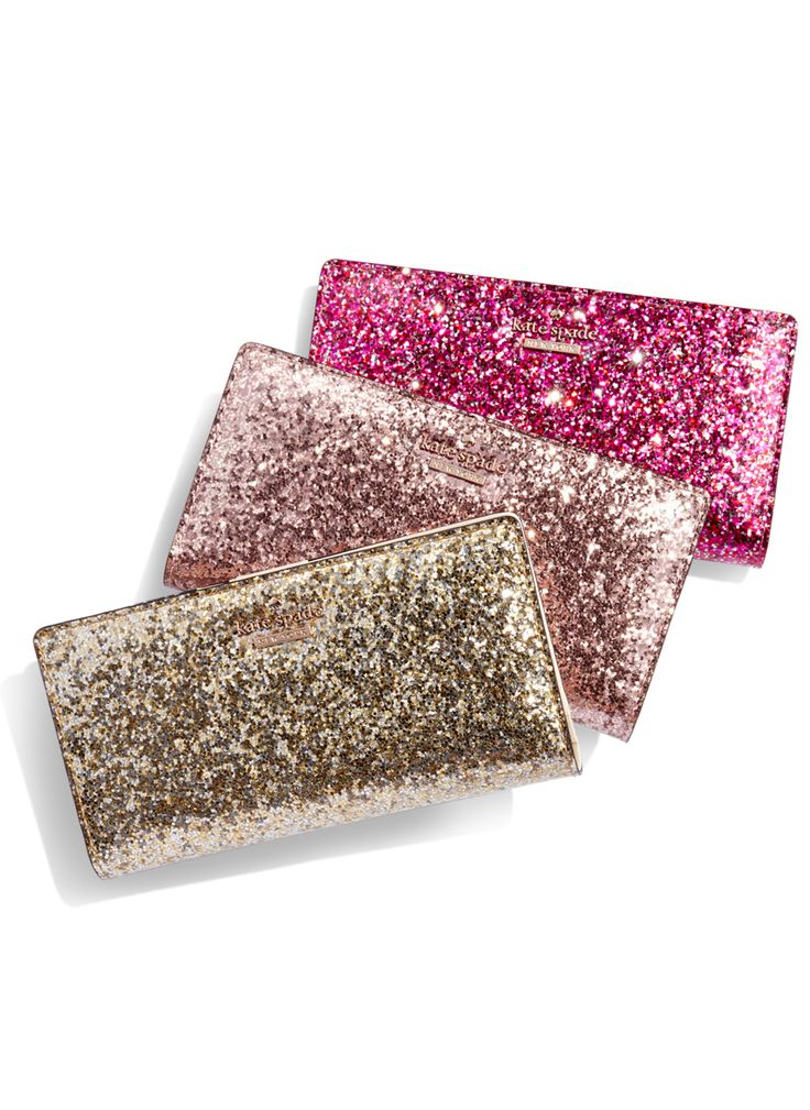 kate spade glitter wallets - on sale for $48 with code: 30BLACKFRI #blackfriday