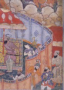 Painting from the Hamzanama, Mughal India, 16th century