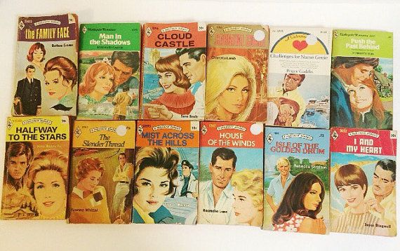 Vintage Harlequin Romance Novels by PrettyPoppiesVintage on Etsy