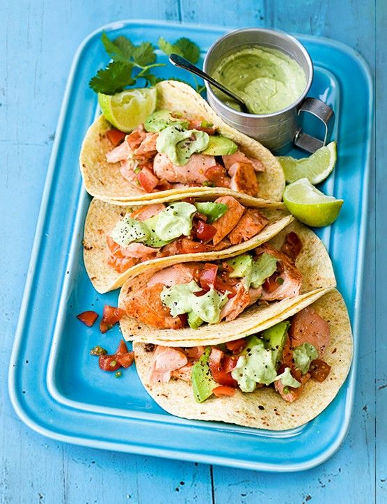 These zesty lime grilled salmon tacos with avocado cream are a really great option for a quick and easy, fresh meal for spring. They're ready in just 20 minutes, making them perfect for a midweek meal or for when it's too hot to cook for too long.