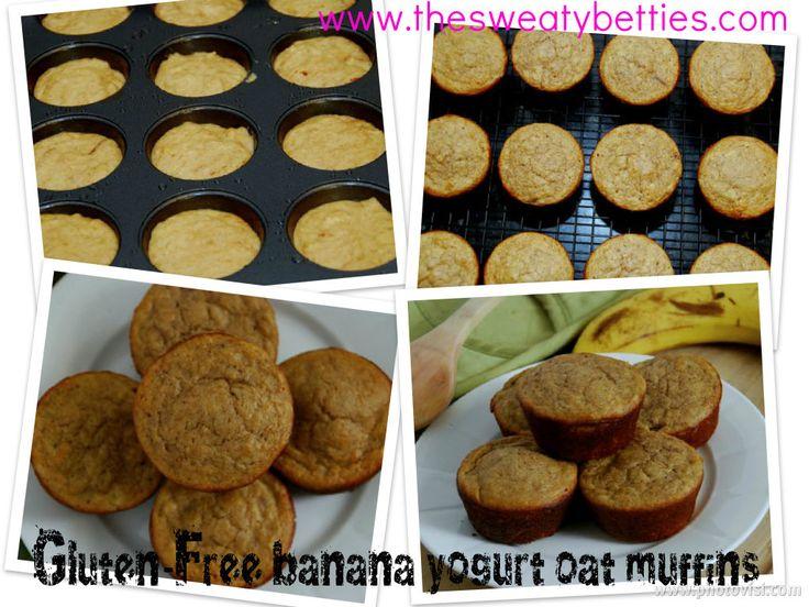 Gluten Free Banana Yogurt Oat Muffins   Healthy food the kids will LO ...