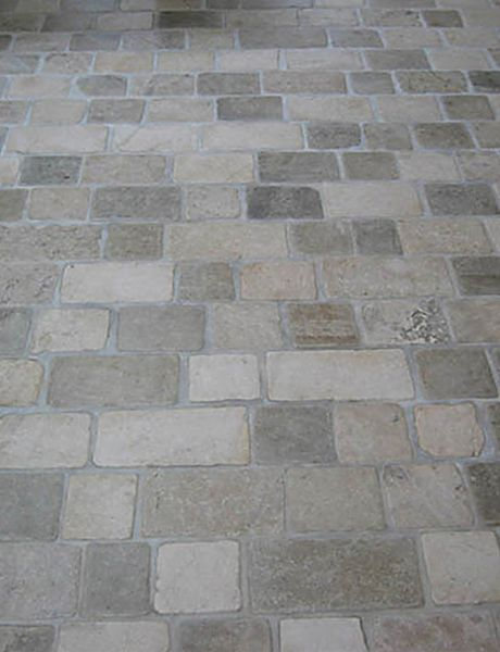 Limestone Tumbled Cobblestone Pavers Traditional Floor Tiles Other Metro Rebekah Zaveloff