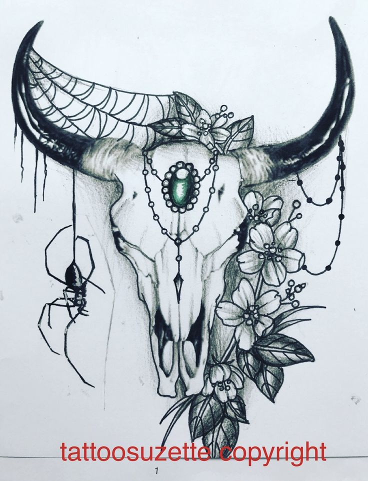 the 25 best bull skull tattoos ideas on pinterest cow skull tattoos animal skull drawing and. Black Bedroom Furniture Sets. Home Design Ideas