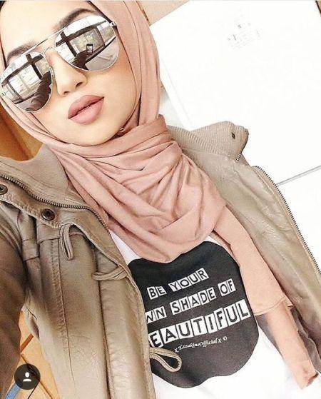 mirroe glasses with hijab