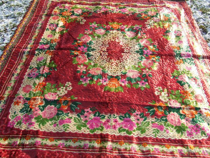 Velvet Italian bedspread sofa throws large by SovietDreamArt