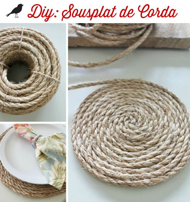 sousplat de corda, mesa posta, tablescape inspiration, corda, sousplat, decoração criativa, ideias criativas