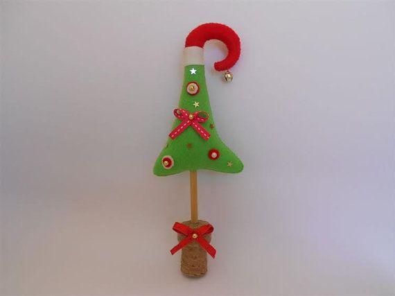 Christmas Tree Felt Christmas Tree Cork Base by PinkOliveGifts