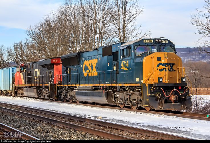 RailPictures.Net Photo: CSX 4714 CSX Transportation (CSXT) EMD SD70MAC at St. Johnsville, New York by Christopher Goes
