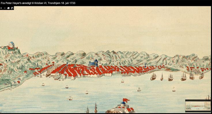 Trondheim, Norway in circa 1733