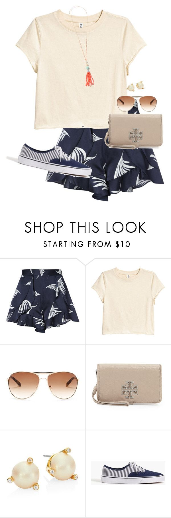 """""""Take me to the beach"""" by auburnlady ❤ liked on Polyvore featuring C/MEO COLLECTIVE, Bobbi Brown Cosmetics, Tory Burch, Kate Spade and J.Crew"""