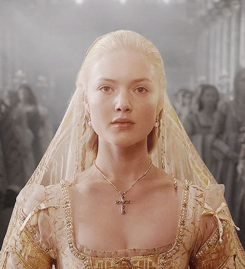 A very young Lucrezia Borgia *Historically* at the tender age of 11 stoically being wedded to her first Husband Giovanni Sforza for her ambitious Fathers *Pope Alexander* political reasons