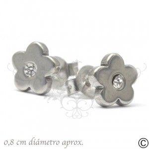ERT_1038, aros, acero, circón, fiesta, accesorios, moda, joya, flor