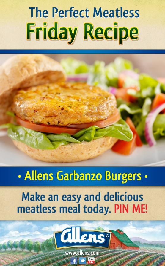 Allens Garbanzo Burger | Food | Pinterest