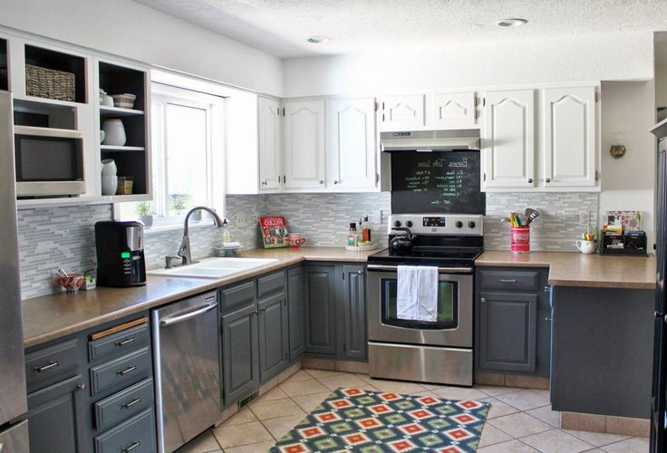 Best Grey Wood Kitchen Cabinets Design With Brown Granite And 640 x 480
