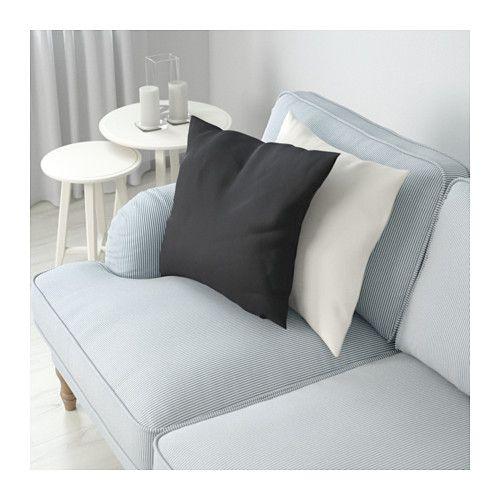 STOCKSUND Canapé 2 places - Remvallen bleu/blanc, brun clair - IKEA