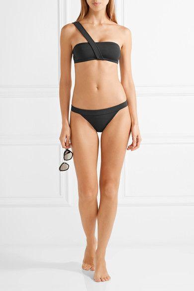 Eres - Transat Maurice One-shoulder Bikini Top - Black - FR38