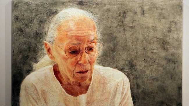 A SELF-portrait by Sydney artist Jenny Sages which reveals her intense grief after losing her husband of 55 years has today won the People's Choice in the Archibald Prize at the Art Gallery of NSW.