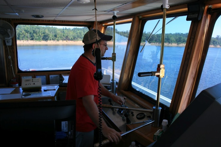 Captain Robert Anthony on the Cumberland river, August 2011