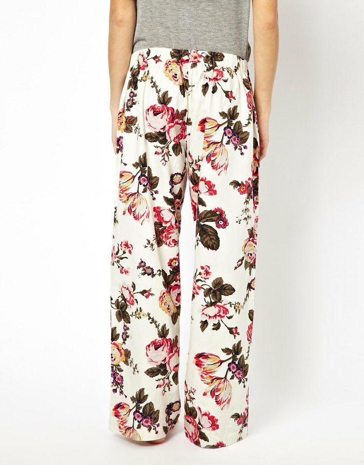 Joules   Joules Fleur Print Pyjama Bottoms at ASOS
