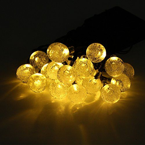 Ucharge Solar Lights Crystal Ball String Lights Led 20ft 30led Globe Fairy Lights for Home, Garden, Patio, Party, Christmas, Indoor and Outdoor Decoration (Warm White) - http://www.the-solar-shop.com/ucharge-solar-lights-crystal-ball-string-lights-led-20ft-30led-globe-fairy-lights-for-home-garden-patio-party-christmas-indoor-and-outdoor-decoration-warm-white/