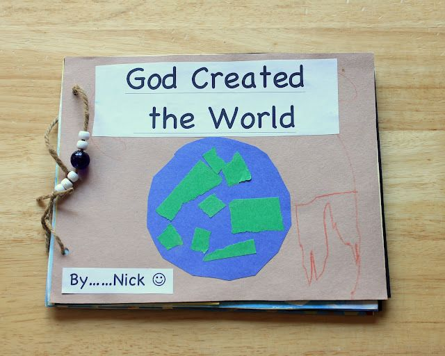 """creation  book - love the """"God rested"""" page"""