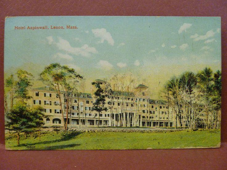 Old Postcard MA Lenox Hotel Aspinwall | eBay