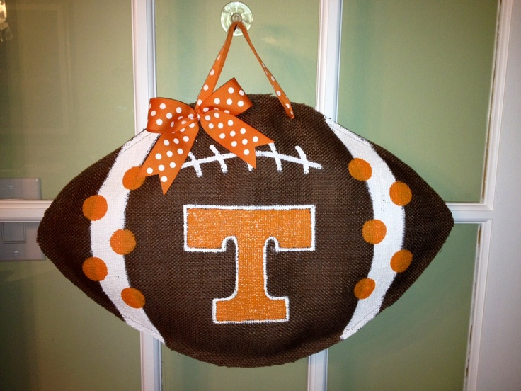 93 Best Sports Door Hangers Images On Pinterest Burlap