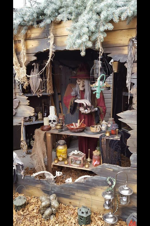 halloween 2015 witch shack - Halloween Outdoor Decoration