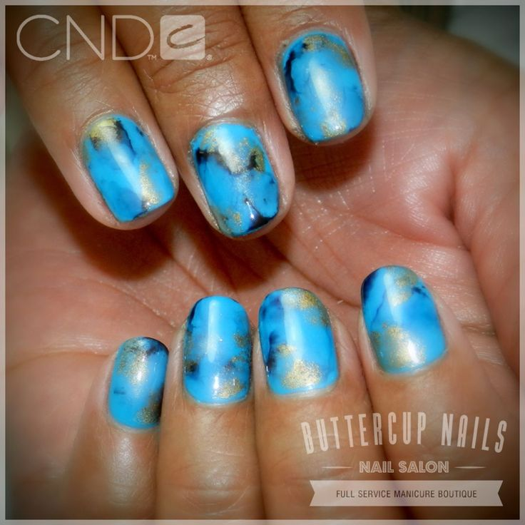 CND Shellac in the gorgeous Cerulean Sea with abstract marbling in black and gold.    #CND #CNDWorld #CNDShellac #Shellac #nails #nail #nailstagram #naildesign #naildesigns #nailaddict #nailpro  #nailart #nailartist #nailartdesign #nailartofinstagram #nailartdesigns