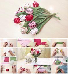 How to Make Fabric Tulips