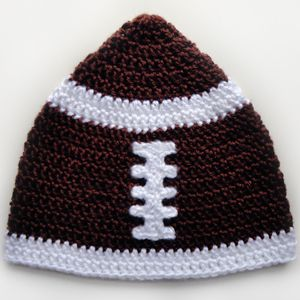 Free Crochet Character Hat Patterns | ... Crochet Pattern: Football Hat (5 Sizes) - Crochet Patterns, Tutorials