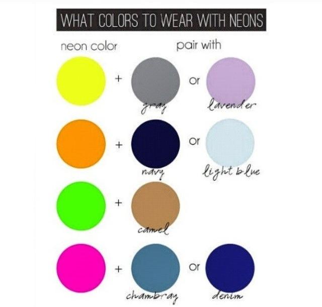 Pairing Neon Colours