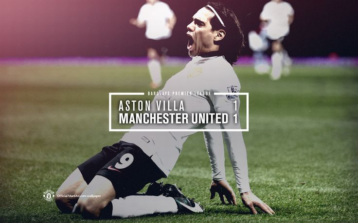 Match wallpaper for @manutd's 1-1 draw against Aston Villa. Falcao scored the Reds' goal.