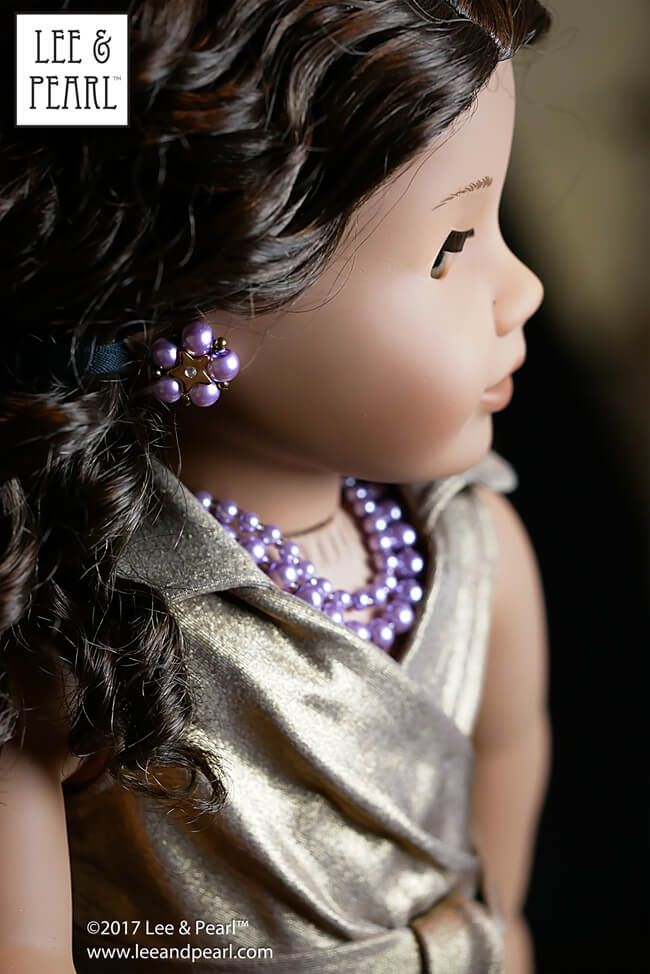 Pearl Necklace Bracelet Jewelry 18 in Doll Clothes Accessory Fits American Girl