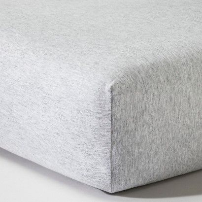 Circo™ Knit Fitted Crib Sheet - Heather Gray (FOCAL ITEM)