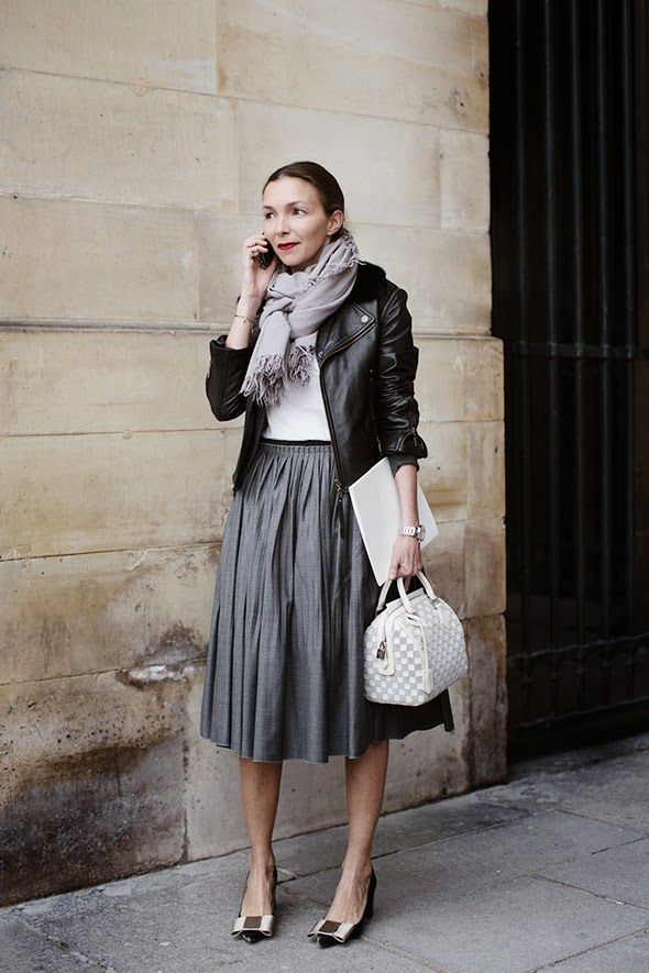 Cute look - Fall outfit and a great combination for the Louis Vuitton Speedy