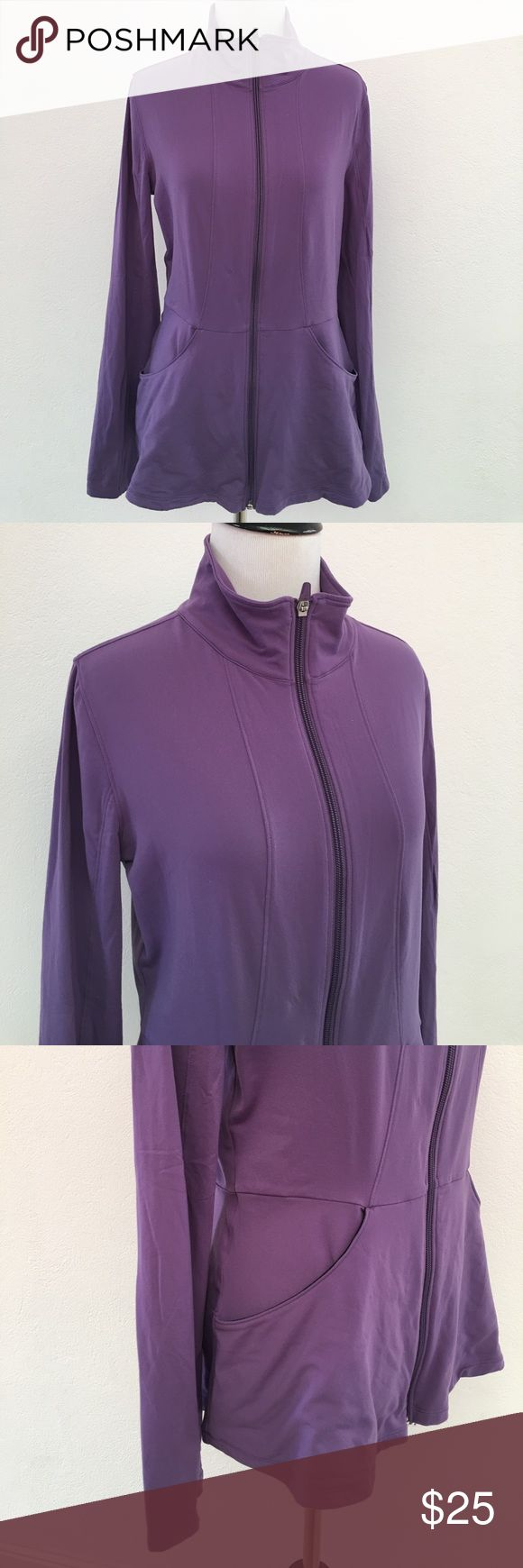 Lucy Full Long Sleeve Purple Zip Up Top Size M Preowned authentic Lucy Full Long Sleeve Purple Zip Up Top Size M. Please look at pictures for better reference. Happy shopping! Lucy Tops