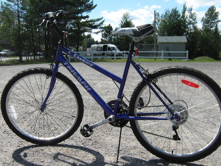 Refurbished Triumph Daser mountain bike Courtesy of Turkey Hill Sugarbush Ltd.