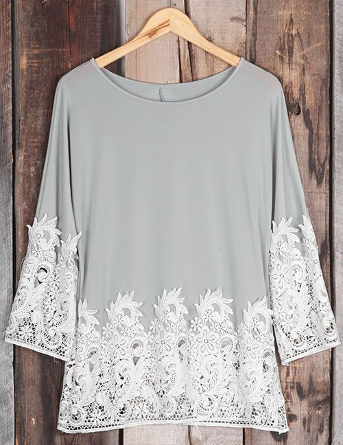 First Choice, $19.99! Easy Return + Refund! First things first, throw on this casual top before you start your day. It is featured with lace splicing & comfy fit. Love it!